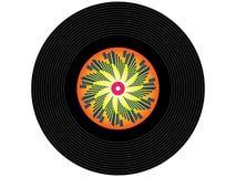 Registro de vinil colorido da música foto de stock