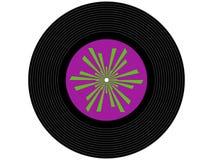 Registro de vinil colorido da música imagem de stock royalty free