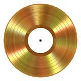 Registro de vinil realístico do ouro no fundo branco Foto de Stock