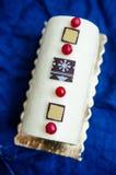 Registro de Yule del caramelo y de la vainilla Fotografía de archivo