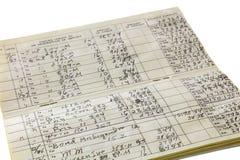 Registro del registro di controllo di affari domestici isolato Fotografia Stock Libera da Diritti