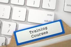 Registro della cartella con i corsi di formazione dell'iscrizione 3d Fotografia Stock