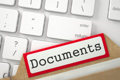 Registro della cartella con i documenti 3d Fotografia Stock Libera da Diritti