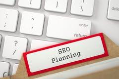 Registro della cartella con SEO Planning 3d Fotografie Stock Libere da Diritti