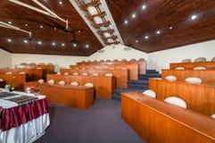 Registro della scena e dell'interiore della sala per conferenze Fotografia Stock Libera da Diritti