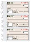 Registro delle ricevute di affitto Fotografia Stock
