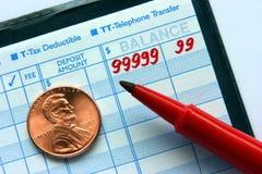 Registro di conto corrente Immagini Stock
