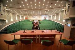 Registro di scena nella sala per conferenze Immagini Stock