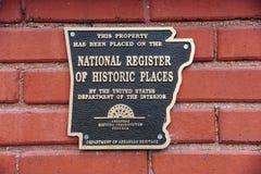 Registro nazionale della placca storica dei posti Fotografia Stock Libera da Diritti