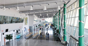 Registro no aiport de Plovdiv - Bulgária Imagens de Stock Royalty Free