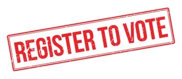 Registro para votar o carimbo de borracha Foto de Stock Royalty Free