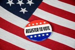 Registro per votare il perno di elezione fotografia stock libera da diritti