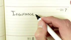 Registro redigido sobre a reunião do departamento de seguro video estoque
