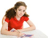 Registros adolescentes al voto Imagen de archivo libre de regalías
