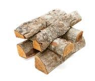 Registros de la madera del fuego Fotos de archivo