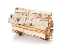 Registros de la madera del fuego Imagen de archivo libre de regalías