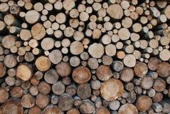 Registros de la madera del fuego Imágenes de archivo libres de regalías