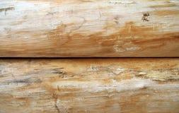Registros de madeira brilhantes Imagens de Stock Royalty Free