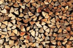 Registros de madeira empilhados Imagens de Stock Royalty Free