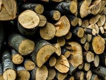 Registros de madera Imágenes de archivo libres de regalías