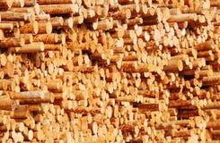 Registros de madera Foto de archivo libre de regalías