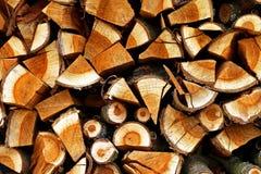 Registros de madera Foto de archivo