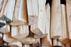Registros de madera del abedul para el horno Foto de archivo libre de regalías