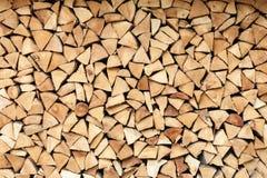 Registros de madera del fuego fotos de archivo libres de regalías