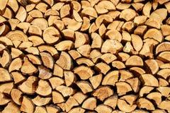 Registros de madera para la chimenea imagen de archivo libre de regalías