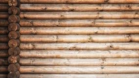 Registros de madera pared y extremos de registros Fotos de archivo libres de regalías