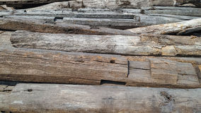 Registros de madera usados Imágenes de archivo libres de regalías