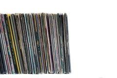 Registros de vinil em um fundo branco Foto de Stock