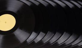Registros de vinil pretos Imagem de Stock