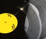 Registros de vinil pretos empilhados acima Imagem de Stock Royalty Free