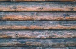 Registros del pino Adornamiento interior en el estilo rústico Foto de archivo