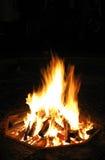 Registros que queimam-se na fogueira Fotos de Stock Royalty Free