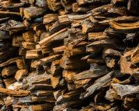 Registros tajados de la madera Imagen de archivo