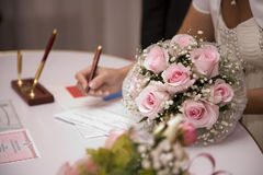Registry office stock images