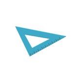 Regla azul del triángulo, ejemplo de medición del vector de la historieta de la herramienta Fotografía de archivo libre de regalías