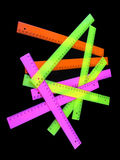 Regla coloreada de la escuela Imagen de archivo libre de regalías