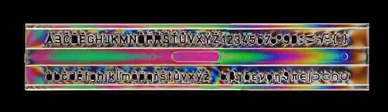 Regla de la plantilla del alfabeto Imágenes de archivo libres de regalías