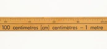 Regla de madera Fotografía de archivo