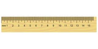 Regla de madera Imagen de archivo libre de regalías
