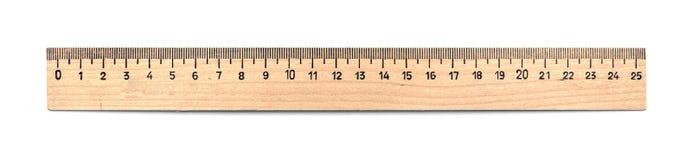 Regla de madera Fotografía de archivo libre de regalías