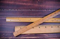 Regla de madera retra Foto de archivo libre de regalías