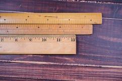Regla de madera retra Imagen de archivo libre de regalías