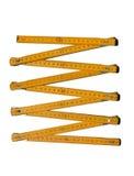 Regla de plegamiento métrica Imagen de archivo