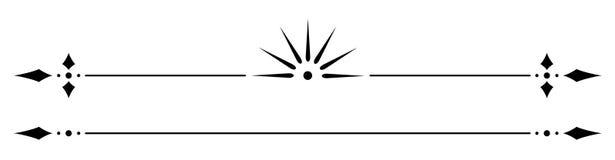 Regla decorativa del vector Fotos de archivo
