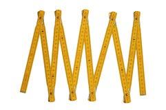Regla del carpintero amarillo Foto de archivo libre de regalías