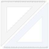 Regla del triángulo stock de ilustración
